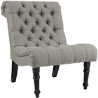 Modway Navigate Upholstered Fabric Lounge Chair in Granite MY-EEI-2144-GRA
