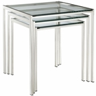 Modway Nimble Stainless Steel Nesting Table in Silver MY-EEI-257