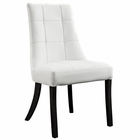 Modway Noblesse Dining Faux Leather Side Chair in White MY-EEI-1039-WHI