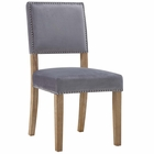 Modway Oblige Upholstered Fabric Wood Dining Chair in Gray MY-EEI-2547-GRY