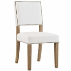 Modway Oblige Upholstered Fabric Wood Dining Chair in Ivory MY-EEI-2547-IVO