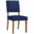 Modway Oblige Upholstered Fabric Wood Dining Chair in Navy MY-EEI-2547-NAV