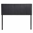Modway Oliver Queen Faux Leather Headboard in Black MY-MOD-5131-BLK