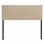 Modway Oliver Queen Upholstered Fabric Headboard in Beige MY-MOD-5042-BEI