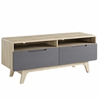 """Modway Origin 47"""" TV Stand in Natural Gray MY-EEI-2533-NAT-GRY"""