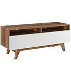 "Modway Origin 47"" TV Stand in Walnut White MY-EEI-2533-WAL-WHI"