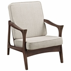 Modway Paddle Upholstered Fabric Lounge Chair in Brown MY-EEI-1048-BRN