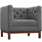 Modway Panache Upholstered Fabric Armchair in Gray MY-EEI-1801-DOR