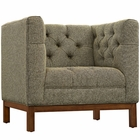 Modway Panache Upholstered Fabric Armchair in Oatmeal MY-EEI-1801-OAT