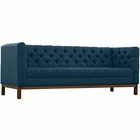 Modway Panache Upholstered Fabric Sofa in Azure MY-EEI-1802-AZU