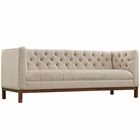 Modway Panache Upholstered Fabric Sofa in Beige MY-EEI-1802-BEI