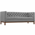 Modway Panache Upholstered Fabric Sofa in Expectation Gray MY-EEI-1802-GRY
