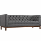 Modway Panache Upholstered Fabric Sofa in Gray MY-EEI-1802-DOR