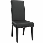 Modway Parcel Dining Faux Leather Side Chair in Black MY-EEI-1491-BLK