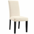 Modway Parcel Dining Upholstered Fabric Side Chair in Beige MY-EEI-1384-BEI