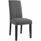 Modway Parcel Dining Upholstered Fabric Side Chair in Gray MY-EEI-1384-GRY