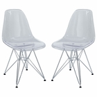 Modway Paris Dining Side Chair Set of 2 in Clear MY-EEI-1261-CLR