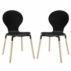 Modway Path Dining Chair Set of 2 in Black MY-EEI-1368-BLK