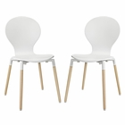 Modway Path Dining Chair Set of 2 in White MY-EEI-1368-WHI