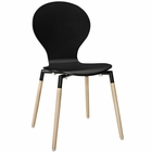 Modway Path Dining Wood Side Chair in Black MY-EEI-1053-BLK