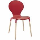 Modway Path Dining Wood Side Chair in Red MY-EEI-1053-RED