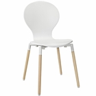 Modway Path Dining Wood Side Chair in White MY-EEI-1053-WHI