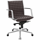 Modway Pattern Faux Leather Office Chair in Brown MY-EEI-2123-BRN