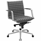 Modway Pattern Faux Leather Office Chair in Gray MY-EEI-2123-GRY