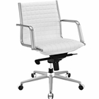 Modway Pattern Faux Leather Office Chair in White MY-EEI-2123-WHI