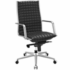 Modway Pattern Highback Faux Leather Office Chair in Black MY-EEI-2122-BLK