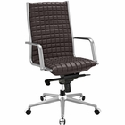 Modway Pattern Highback Faux Leather Office Chair in Brown MY-EEI-2122-BRN