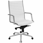 Modway Pattern Highback Faux Leather Office Chair in White MY-EEI-2122-WHI