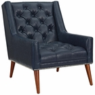 Modway Peruse Faux Leather Armchair in Blue MY-EEI-2307-BLU
