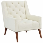 Modway Peruse Upholstered Fabric Velvet Armchair in Ivory MY-EEI-2306-IVO