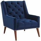 Modway Peruse Upholstered Fabric Velvet Armchair in Navy MY-EEI-2306-NAV