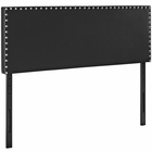 Modway Phoebe Full Faux Leather Headboard in Black MY-MOD-5383-BLK