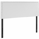 Modway Phoebe King Faux Leather Headboard in White MY-MOD-5387-WHI