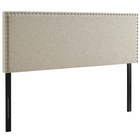 Modway Phoebe King Upholstered Fabric Headboard in Beige MY-MOD-5388-BEI