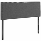 Modway Phoebe King Upholstered Fabric Headboard in Gray MY-MOD-5388-GRY