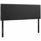 Modway Phoebe Queen Faux Leather Headboard in Black MY-MOD-5385-BLK