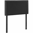 Modway Phoebe Twin Faux Leather Headboard in Black MY-MOD-5381-BLK