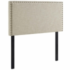 Modway Phoebe Twin Upholstered Fabric Headboard in Beige MY-MOD-5382-BEI