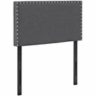 Modway Phoebe Twin Upholstered Fabric Headboard in Gray MY-MOD-5382-GRY