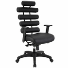 Modway Pillow Faux Leather Office Chair in Black MY-EEI-274-BLK