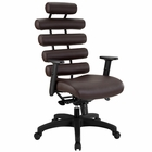 Modway Pillow Faux Leather Office Chair in Dark Brown MY-EEI-274-DBR