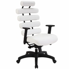 Modway Pillow Faux Leather Office Chair in White MY-EEI-274-WHI