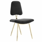 Modway Ponder Upholstered Velvet Dining Side Chair in Black MY-EEI-2811-BLK