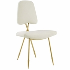 Modway Ponder Upholstered Velvet Dining Side Chair in Ivory MY-EEI-2811-IVO