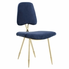 Modway Ponder Upholstered Velvet Dining Side Chair in Navy MY-EEI-2811-NAV