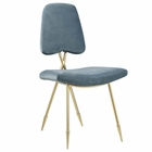 Modway Ponder Upholstered Velvet Dining Side Chair in Sea Blue MY-EEI-2811-SEA